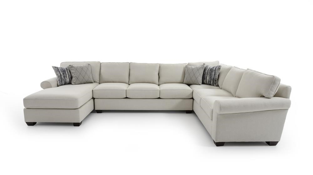 Three Piece Customizable Sectional Sofa with Chaise