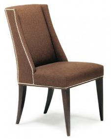 Contemporary Side Chair with Nailhead Trim