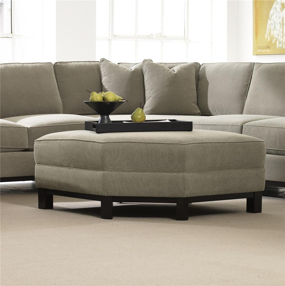 Urban Planning Shaped Ottoman by Precedent at Alison Craig Home Furnishings