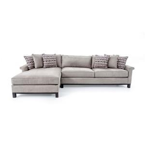 Customizable Two Piece Contemporary Sectional