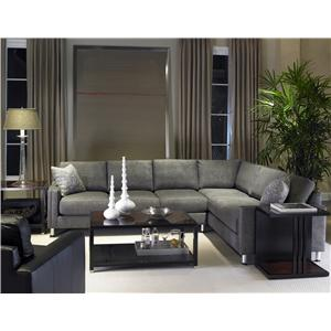 2 Piece Sectional with Metal Legs
