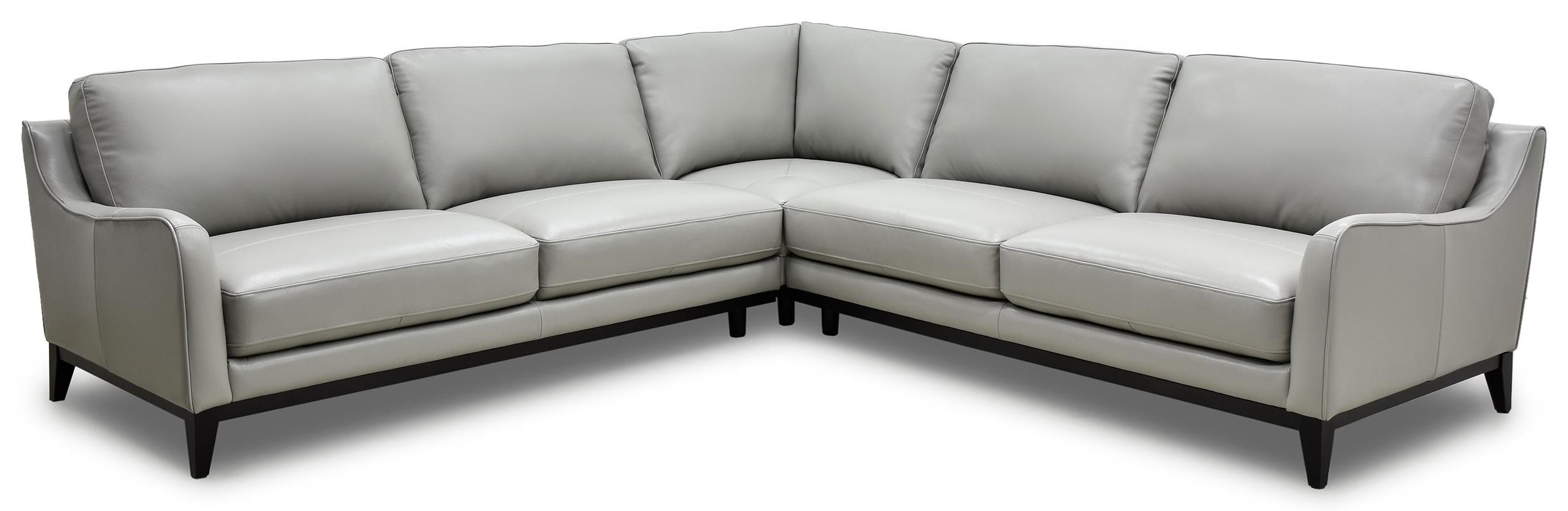 Bozeman 3PC Leather Sectional at Rotmans