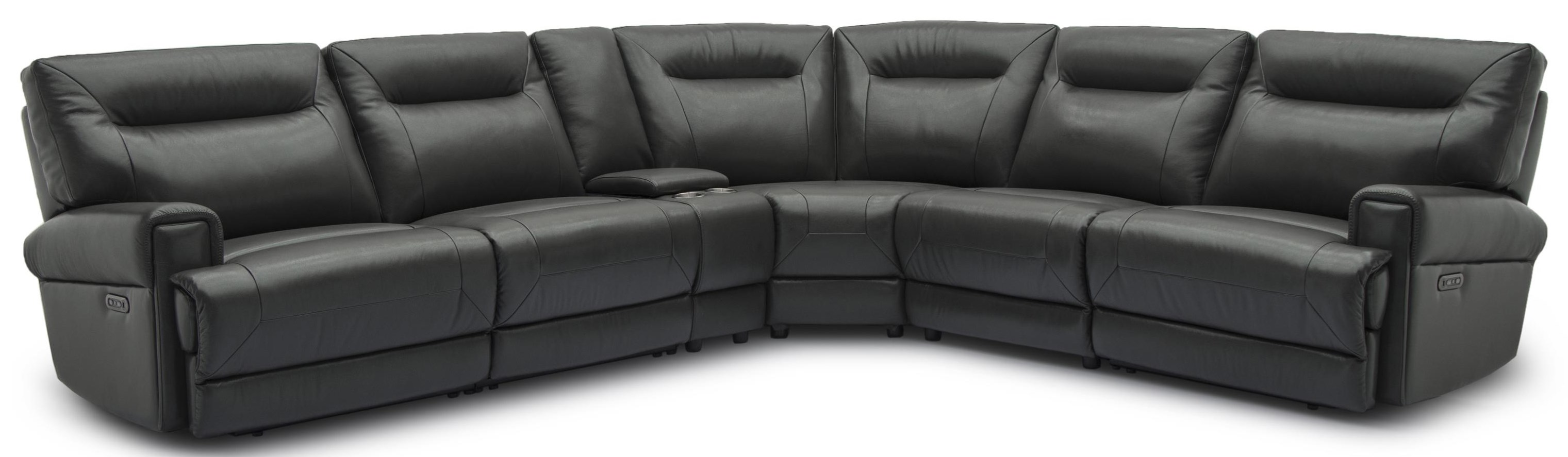 Hialeah Leather Power Reclining Sectional at Rotmans