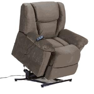 Casual Power Lift Recliner with Pillow Arms and Lumbar Support