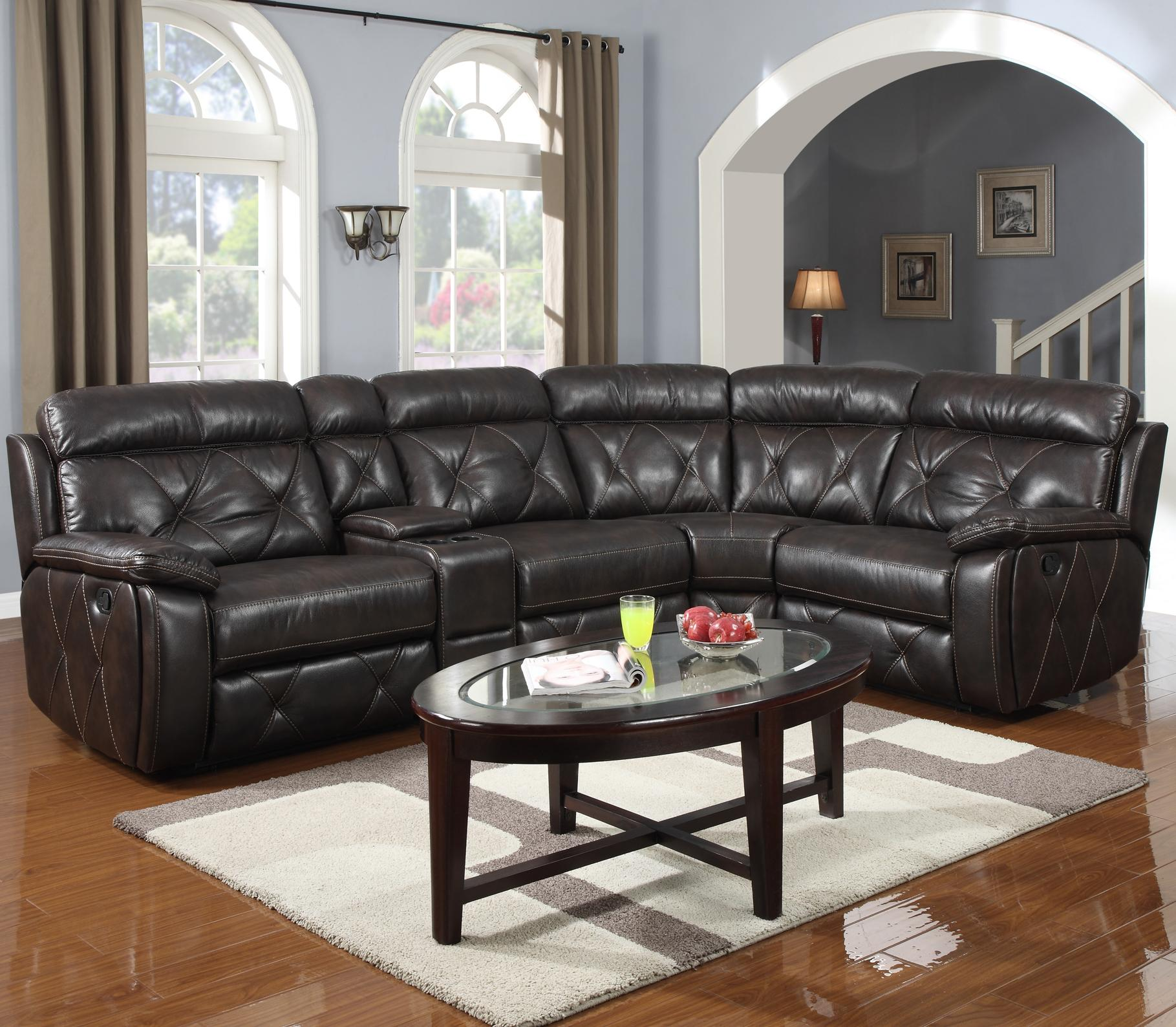 1660 Reclining Sectional by Prime Resources International at Dream Home Interiors