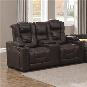Power Reclining Loveseat with Powered Headrests