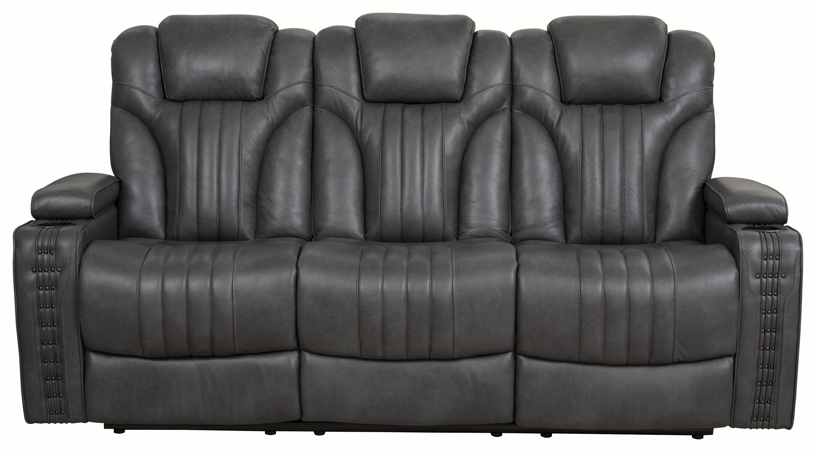 Boone Boone Leather Match Power Sofa by Prime Resources International at Morris Home