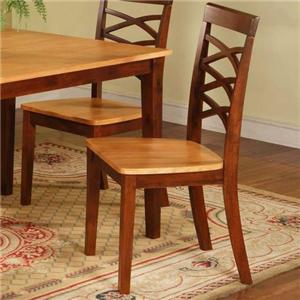 Triple-X Dining Side Chair with Upholstered Seat