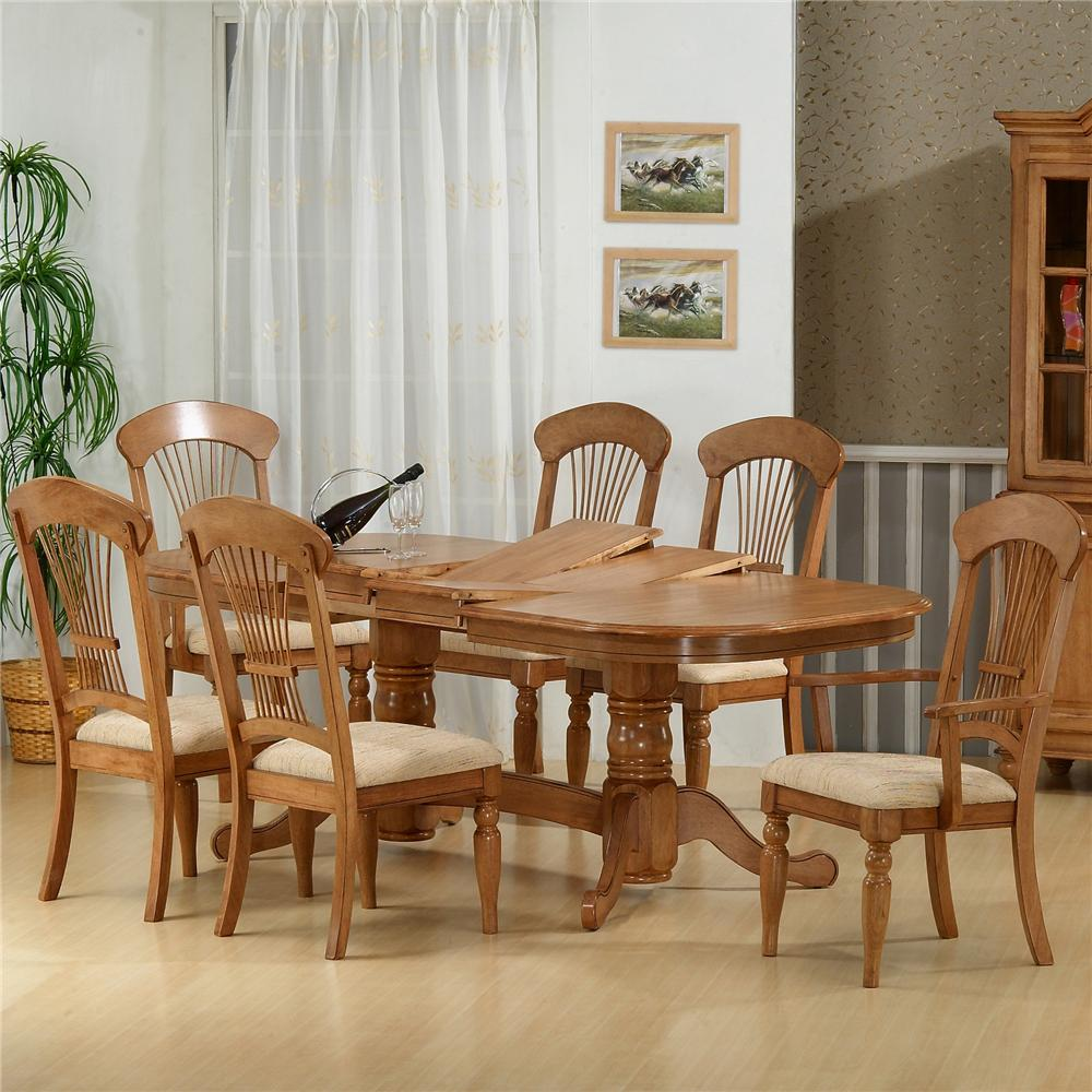 1855 Table With 4 Side Chairs and 2 Arm Chairs by Primo International at Nassau Furniture and Mattress