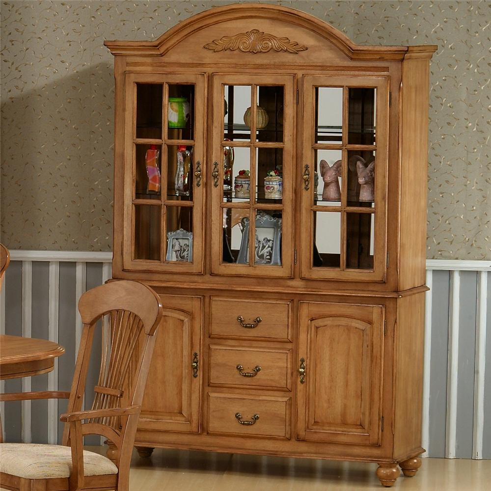 1855 Buffet With Hutch by Primo International at Nassau Furniture and Mattress