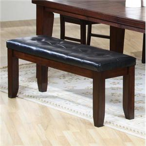 Dining Bench With Faux Leather Upholstered Seat