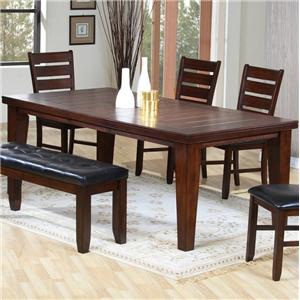 Rectangle Dining Leg Table With Butterfly Leaf