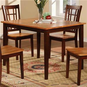 Rectangular Dining Leg Table