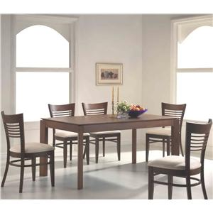 Rectangular Dining Leg Table With 4 or 6 Side Chairs