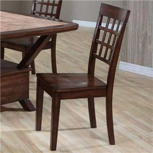 Ladder Back Side Chair with Wood Seat
