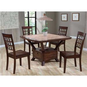 Primo International 8189 Tile Top Table & Chair Set