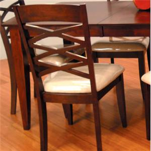 Fabric Seat Dining Side Chairs
