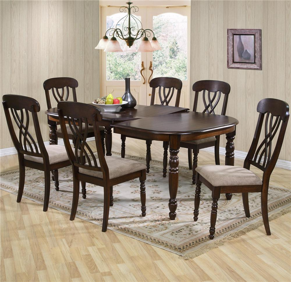 9308 Dining Table and Chair Set by Primo International at Beds N Stuff