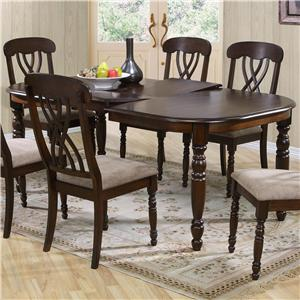 Dining Table with 18 Inch Leaf