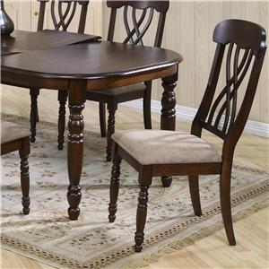 Dining Side Chiar with Turned Legs