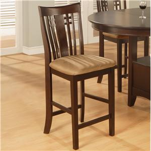 Bar Stool With Upholstered Fabric Seat