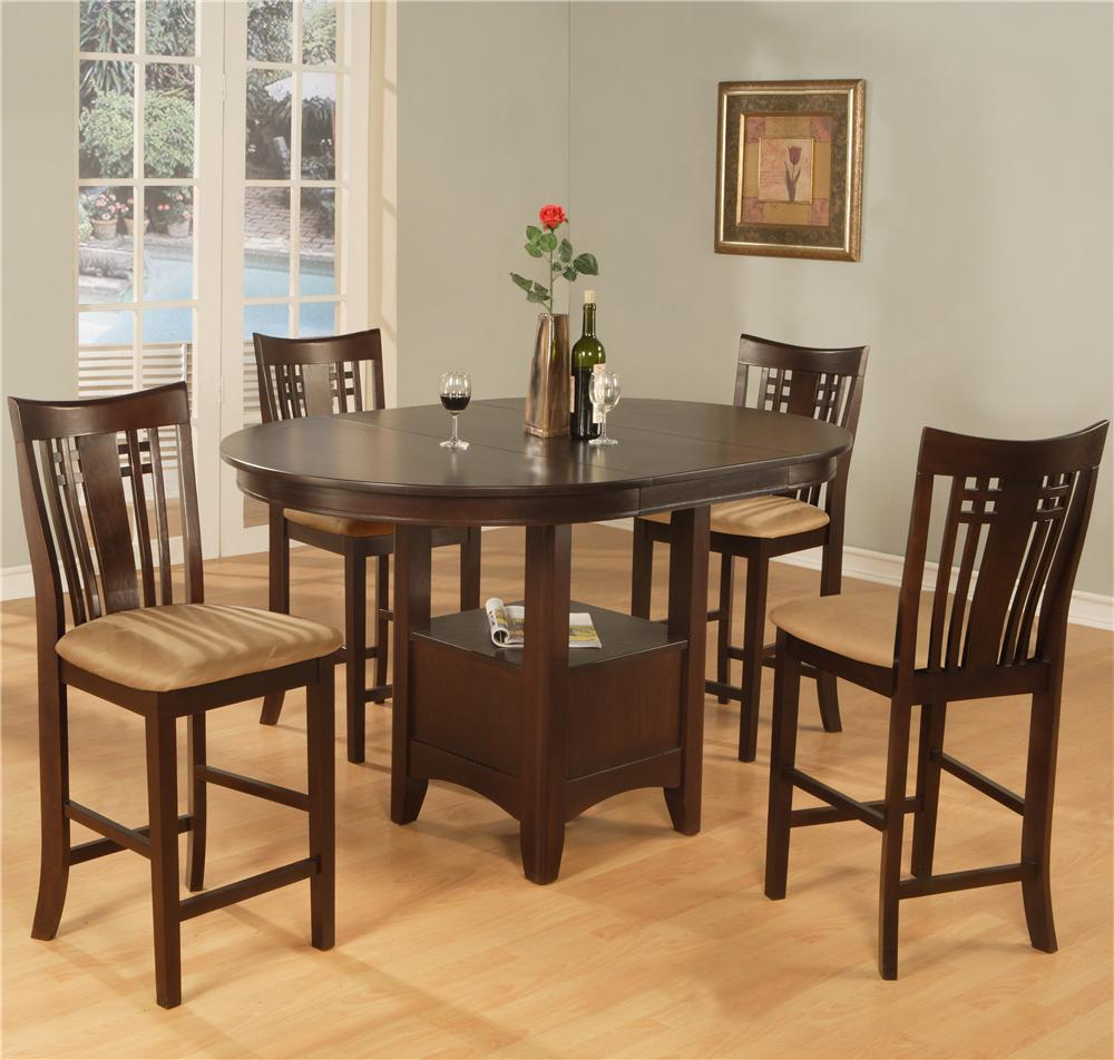 956 Counter Dining Table and 4 Chairs by Primo International at Nassau Furniture and Mattress