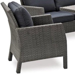 Wicker Outdoor Arm Chair with Aluminum Frame