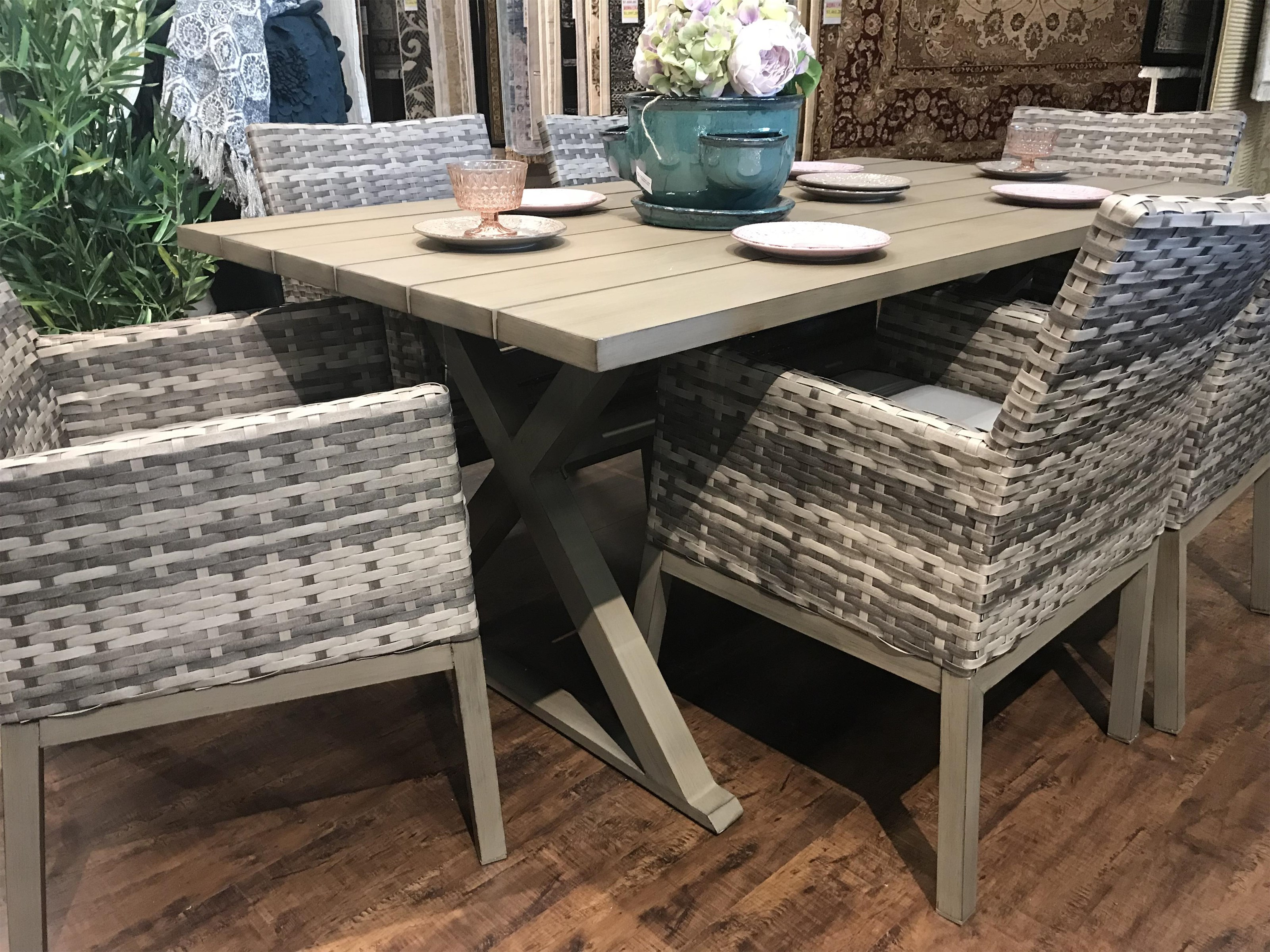 Belvedere Wicker Outdoor Dining Arm Chair by Primo International at Stoney Creek Furniture