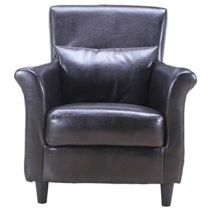 Traditional Upholstered Chair with Matching Pillow