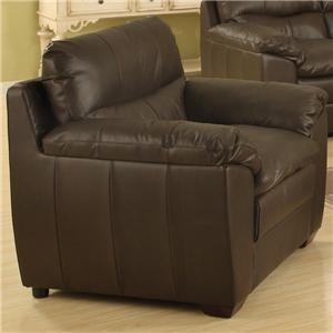 Upholstered Leather Chair