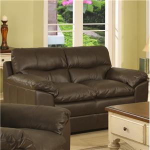 Leather Upholstered Loveseat