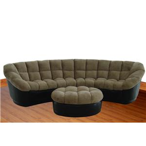 2 Piece Sectional with Bold Button Tufting