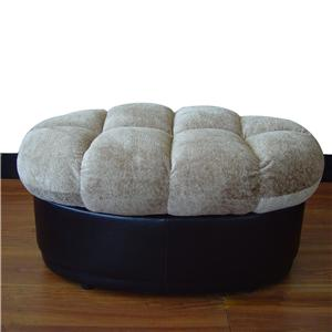 Button Tufted Ottoman