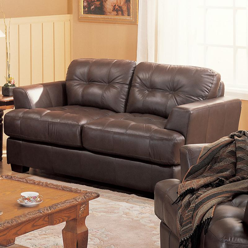 Millenium Leather Loveseat by Primo International at Bullard Furniture