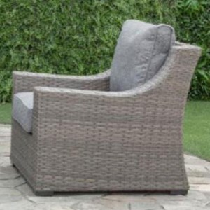 Outdoor Wicker Chair with Aluminum Frame