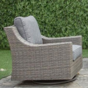 Wicker Swivel Chair with Aluminum Frame