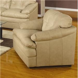 Upholstered Chair with Pillow Top Arms