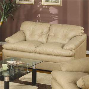 Loveseat with Pillow Top Seat Cushions
