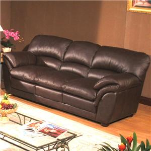 Primo International Poirot Stationary Leather Sofa