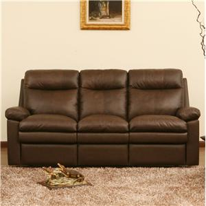Reclining Sofa with Pillow Top Cushions