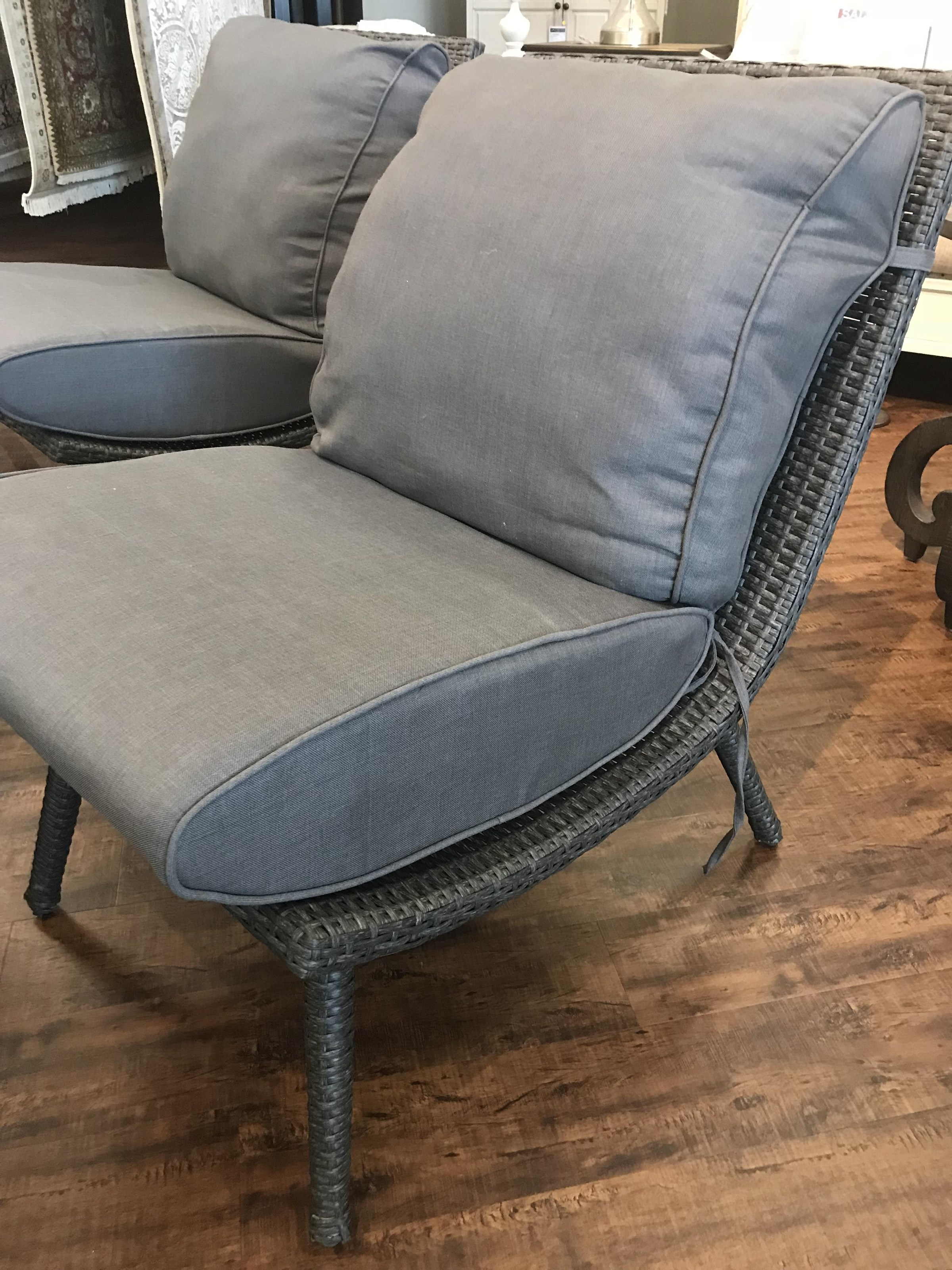 Scoop Armless Wicker and Aluminum Chair by Primo International at Stoney Creek Furniture