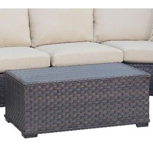 Outdoor Wicker Cocktail Table with Aluminum Frame