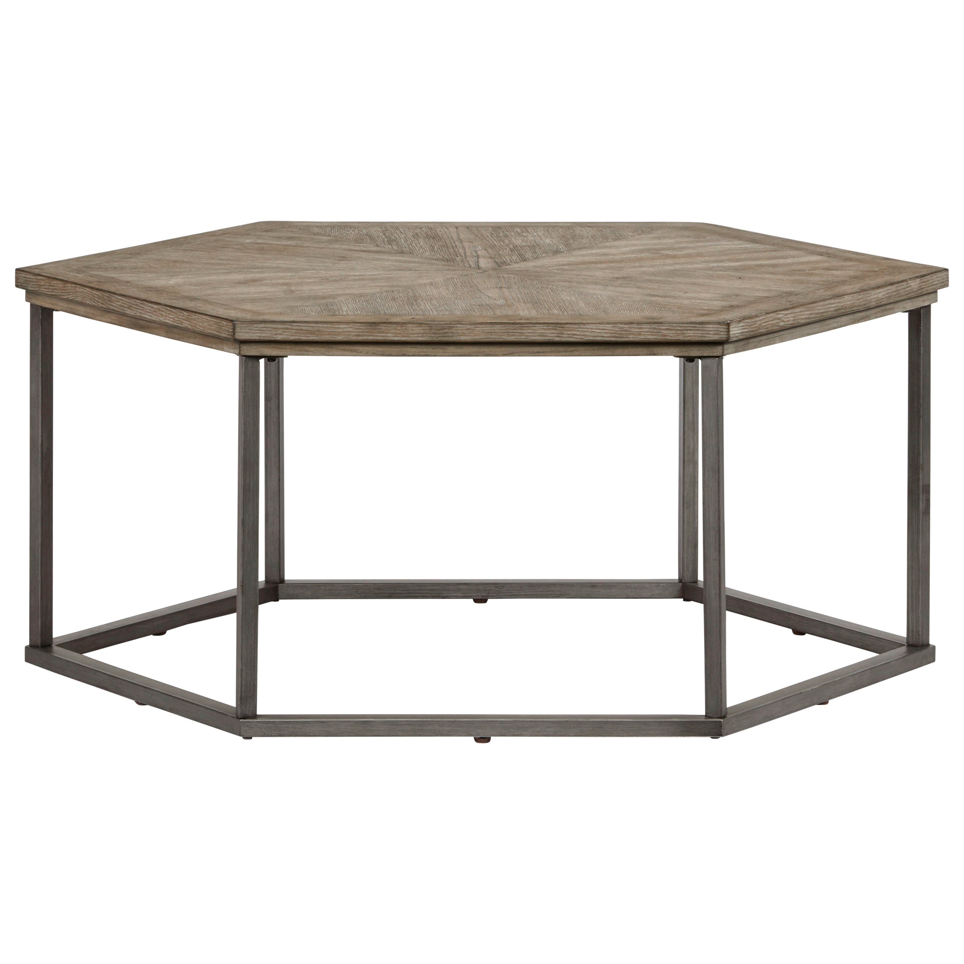 Adison Cove Hexagon Cocktail Table by Progressive Furniture at Catalog Outlet