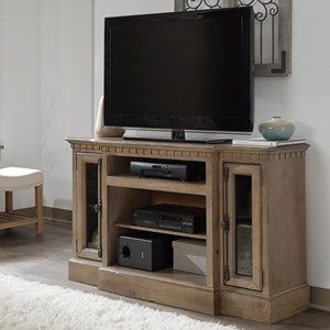 "54"" Console with Breakfront Design"