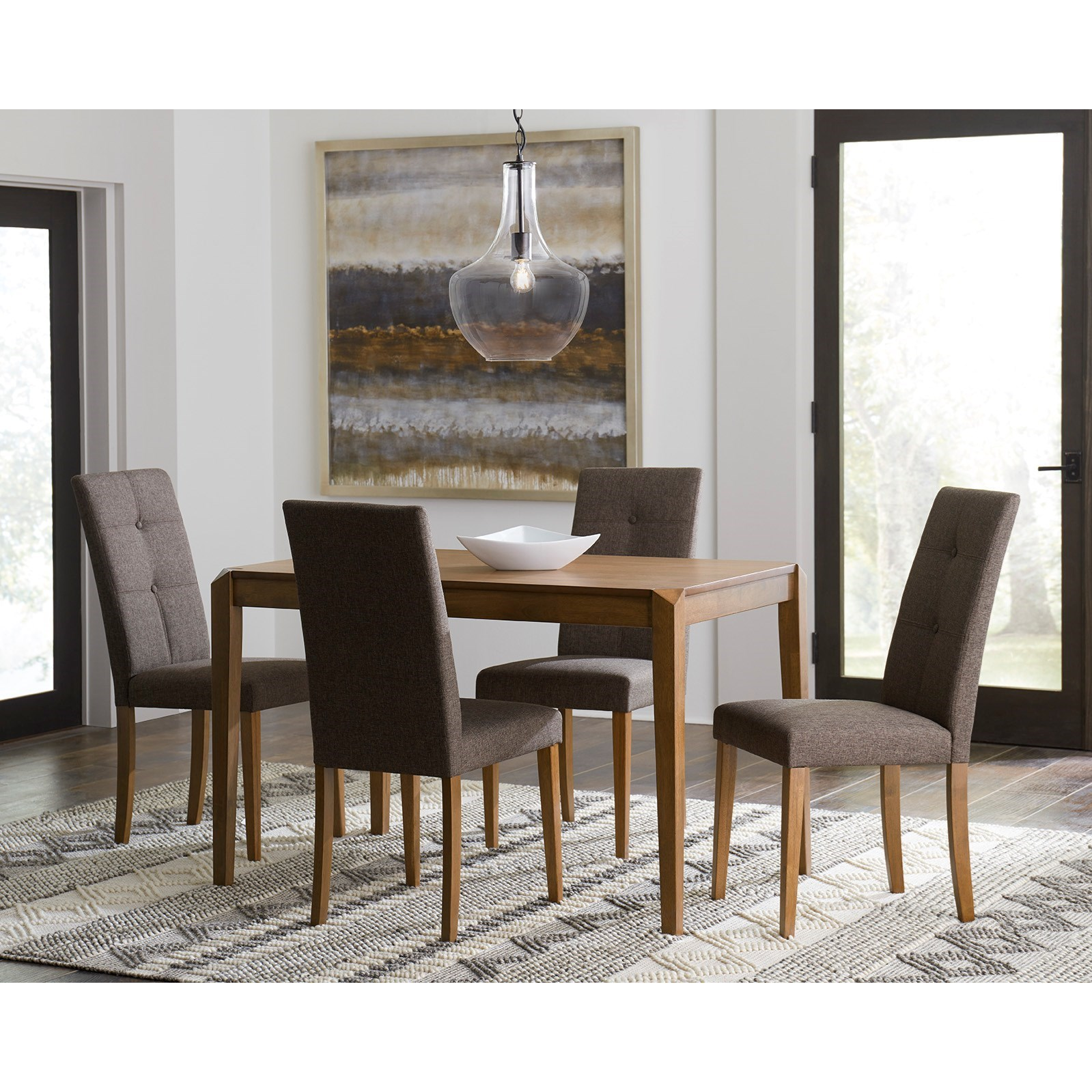 Arcade 5-Piece Table and Chair Set by Progressive Furniture at Catalog Outlet