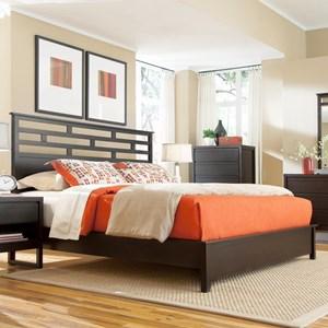 Contemporary Lattice Queen Panel Bed