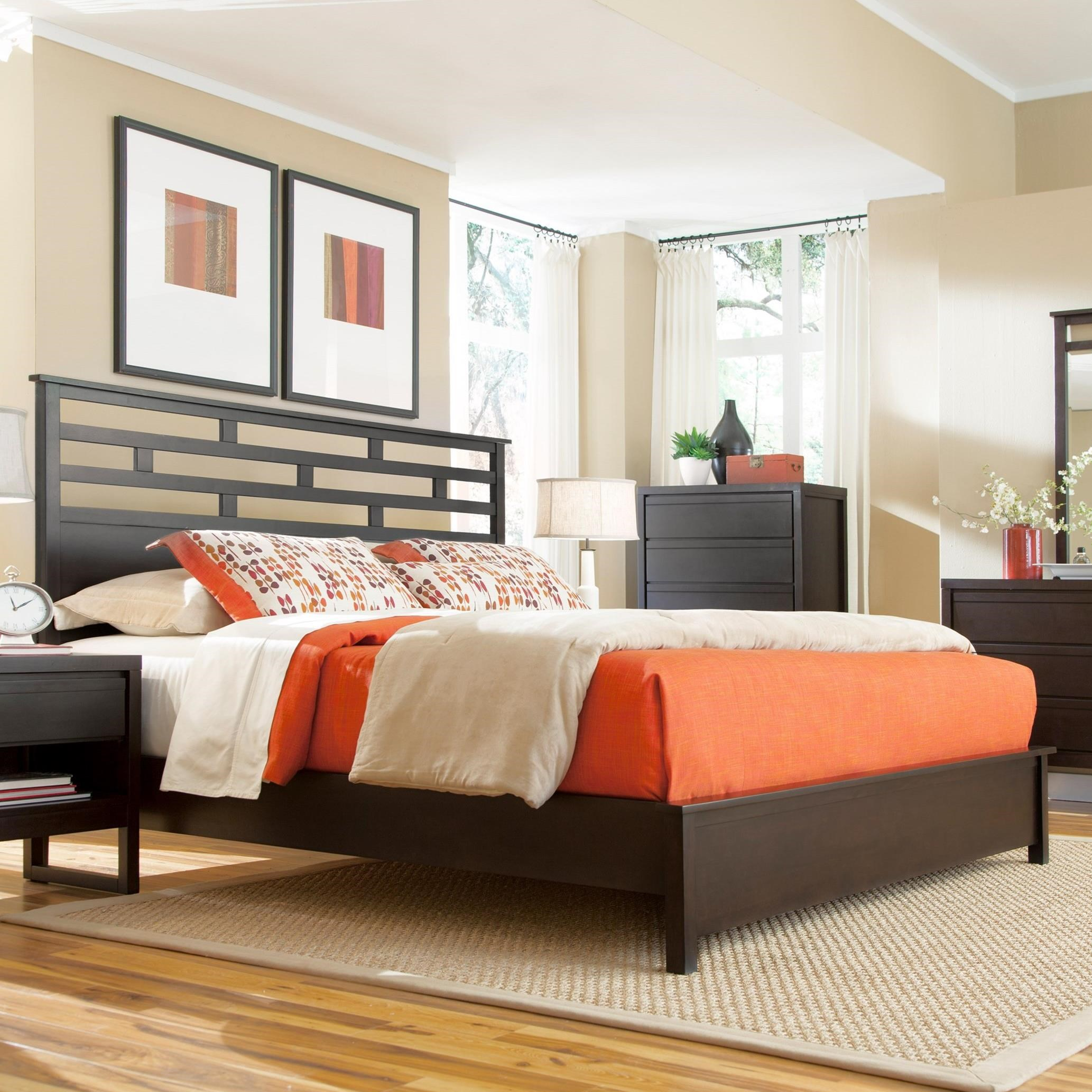 Athena King Panel Bed  by Progressive Furniture at Simply Home by Lindy's