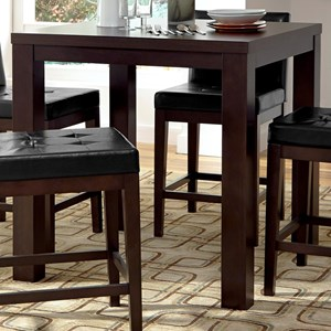 Contemporary Square Counter Height Dining Table
