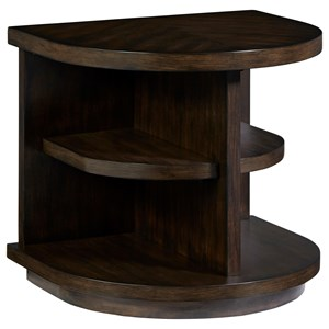 Casual End Table with Open Shelving