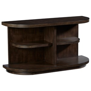 Casual Sofa/Console Table with Open Shelving